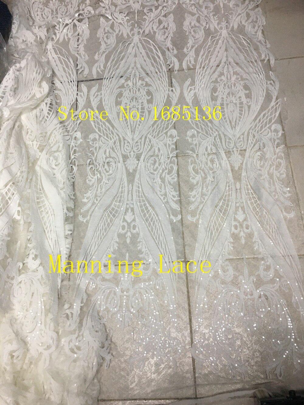 Роскошные белого цвета вышивка тюль сетка цветок французский чистая кружевной ткани с лучшее качество