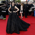 Sonam Kapoor Celebrity Dresses 2016 Sexy Women Evening Gowns Scoop Crystal Beaded Black Long Elegant Prom Dresses Vestido Longo