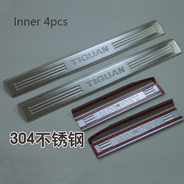 For Volkswagen VW TIGUAN 2010 2012 2013 2014 2015 Stainless Steel Scuff Plate Door Sill Cover Threshold Strip Welcome Pedal