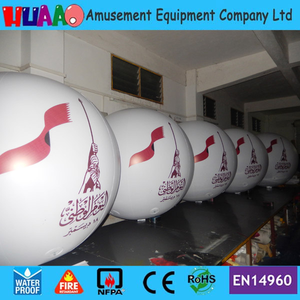 Free shipping 1.2m/4ft giant PVC inflatable balloon sky balloon helium balloon(5pcs+free logo) ao058b 2m white pvc helium balioon inflatable sphere sky balloon for sale attractive inflatable funny helium printing air ball
