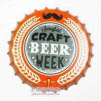 BIÈRE ARTISANALE SEMAINE Grand Couvercle de La Bière Tin Signe Logo Plaque Vintage Métal Peinture Mur Autocollant Fer Inscrivez-bar KTV Magasin décoratif
