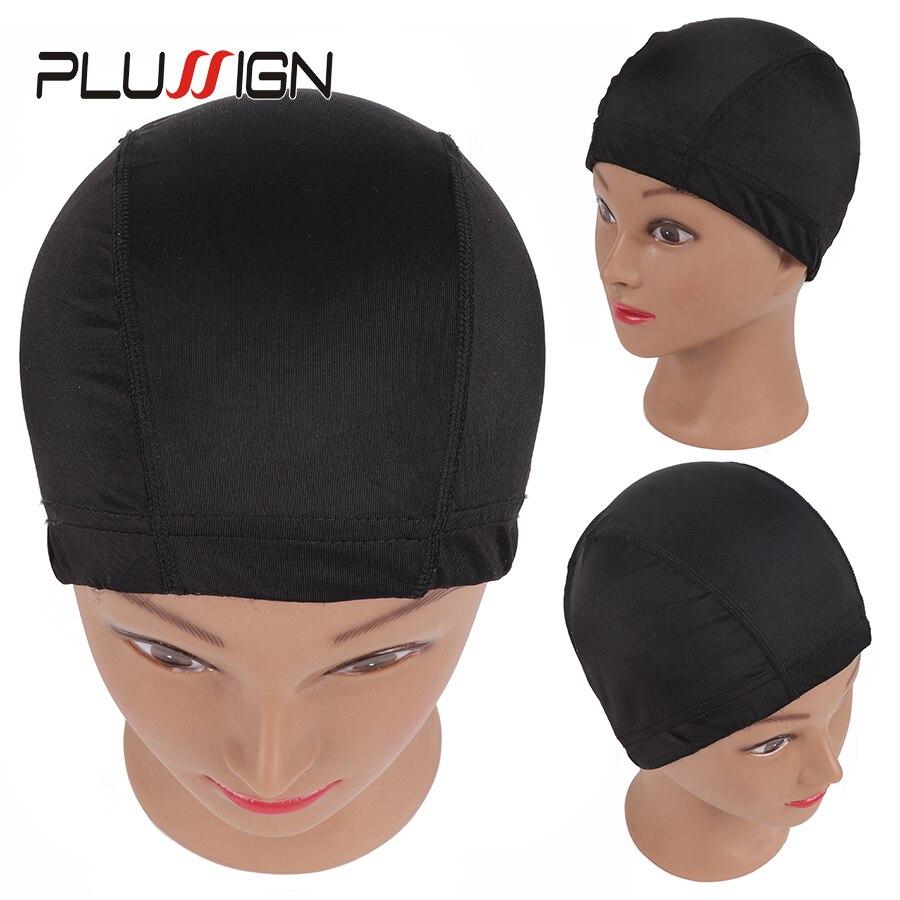 Plussign Glueless Elastic Mesh Dome Spandex Cap Hair Weaving Nets Wig Liner Cheap Wig Making Tools 6 Pcs/Lot Bulk Sale