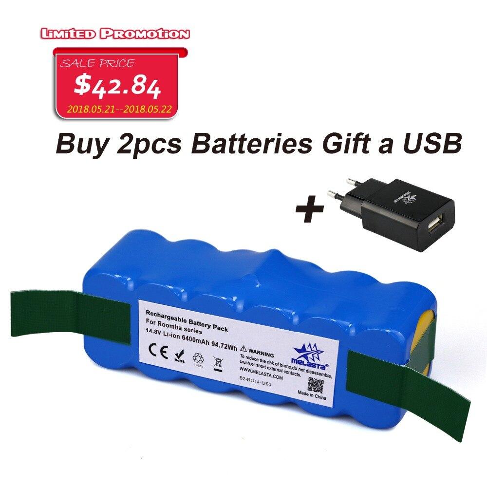 цена на 6.4Ah 14.8V Li-ion Battery for iRobot Roomba 500 600 700 800 980Series 510 530 550 560 585 561 620 630 650 760 770 780 870 880R3