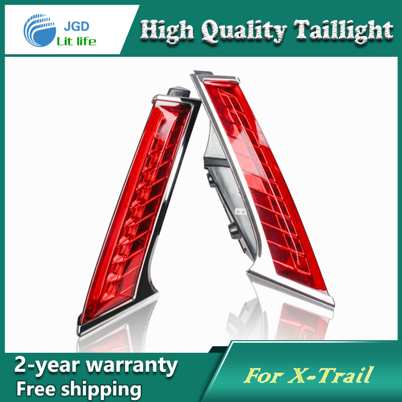Car Styling Tail Lamp for Nissan X-Trail 2014 Tail Lights LED Tail Light Rear Lamp LED DRL+Brake+Park+Signal Stop Lamp