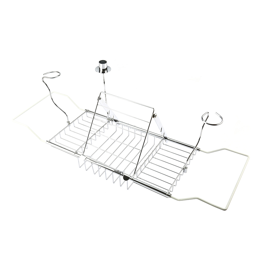 Stainless Bathtub Tray Over the Tub Racks Retractable Shower ...