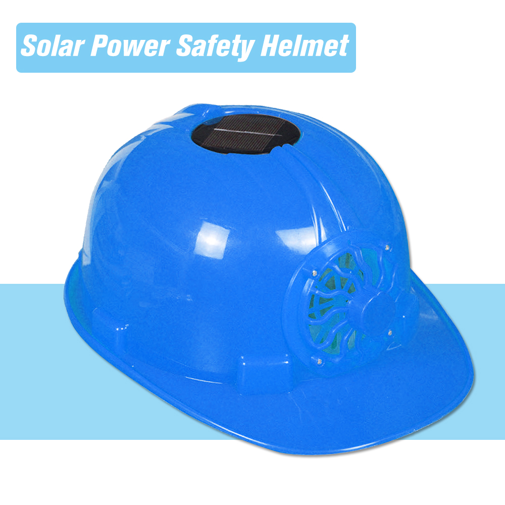 Solar Power Safety Helmet Work Hard Hat Cap with Solar Powered Cooling Fan Workplace Safety Head Protection