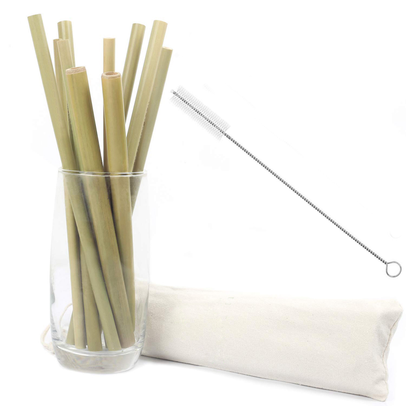 10Pcs Reusable Straws Natural Bamboo Straw Eco Friendly Drinking Straw Wedding Party Bar Accessories Straw Set Wth Brush and Box (6)