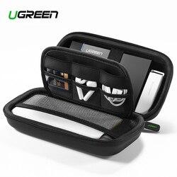 Ugreen power Bank Прочный чехол Коробка для 2,5 жесткого диска USB кабель для внешнего хранения SSD HDD Чехол