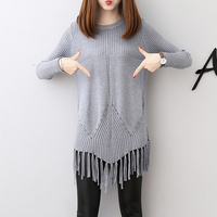 Fashion Women Solid O Neck Sweater Shirt Casual Long Sleeve Pullove Shirt Sexy Solid Knitted Jumpers