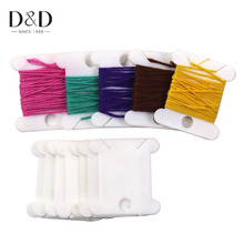 150pcs Plastic White Thread Bobbins Spool for Storage Holder Cross Stitch Embroidery Floss Card Sewing Tools