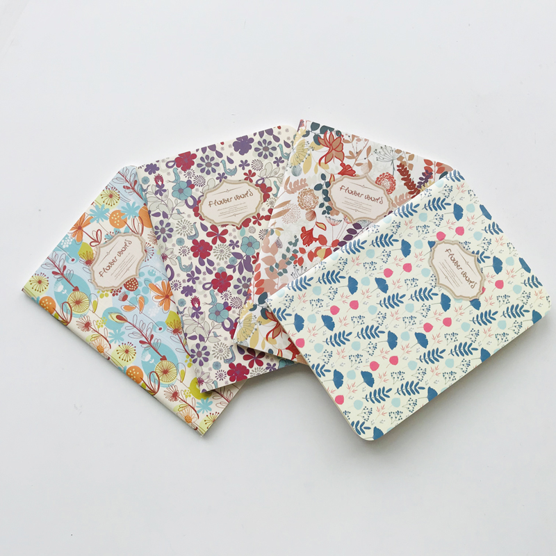 1X 24 Sheets Cute Flower World Notebook Writing Diary Book Kids Gift Student Stationery Rewarding School Office Supply