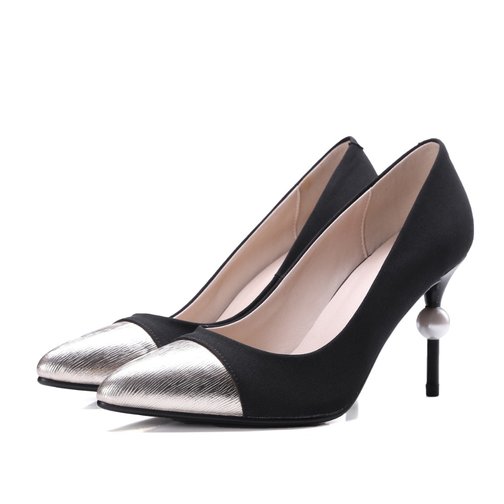Free Shipping 2017 Summer new hot shoes women pumps delicate elegant high heel   Office & Career Slip-On Black and beige shoes free shipping no 40 3 red color fo shoes and bag set new summer women s shoes low heel shoes crystal high heel shoes