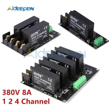 380V 8A 1 2 4 Channel SSR Board Solid State Relay Module Hig