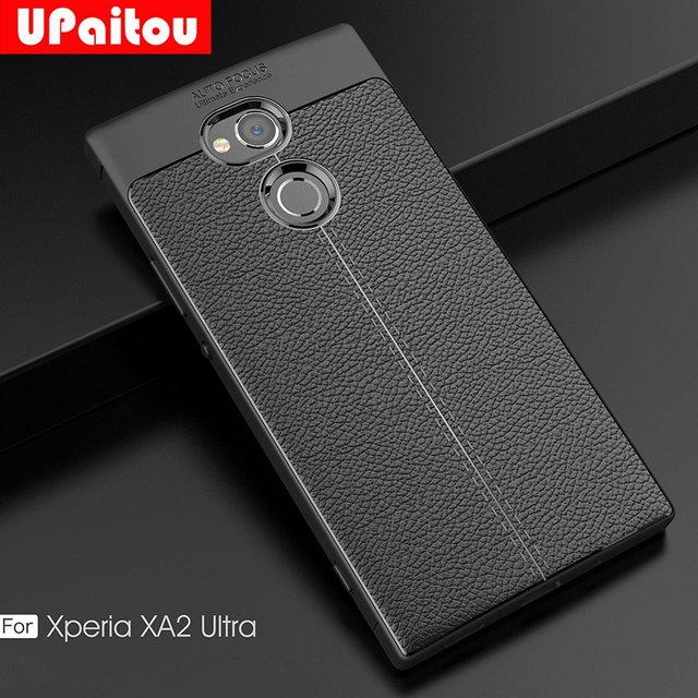 pretty nice c16b5 e5f94 US $2.99 25% OFF|UPaitou Soft TPU Case for Sony Xperia XA2 Ultra Case  Leather Texture Silicone Cover for Sony Xperia XA2 Ultra Phone Case  Cover-in ...