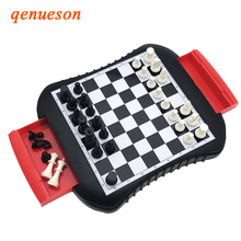 High Quality Drawer style Chess Magnetic Mini Family Game ABS Plastic Chess Set For Friend Children Kid Gift Board Game qenueson цена