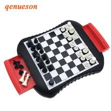 Hochwertige Schublade Stil Schach Magnetische Mini Familie Spiel ABS Kunststoff Schachspiel Für Freund Kinder Kind Geschenk Brettspiel qenueson