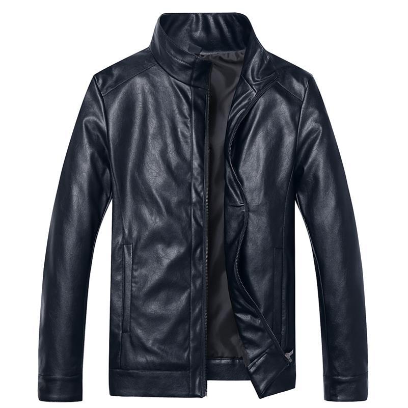 En Moto Nouvelle Hommes 6xl brown Cuir Marque Élastique Solide Veste Black Printemps 8xl 10xl Survêtement 5xl Automne Pu Vêtements blue Vestes Casual x0WnwCTq1