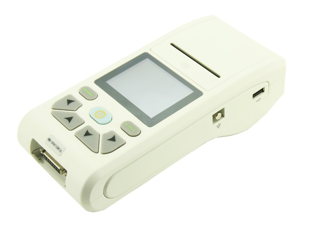 CONTE ECG90A Handheld 12-lead ECG Electrocardiograph Portable ECG machine promise china ecg supplier single channel electrocardiograph with software pro ecg01g