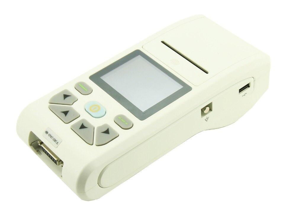 CONTE ECG90A Handheld 12 lead ECG Electrocardiograph Portable ECG machine