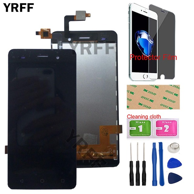 5 Mobile Phone LCD Display For BQ BQS 5020 BQS 5020 Strike LCD Display Touch Screen Complete Assembly Tools Protector Film