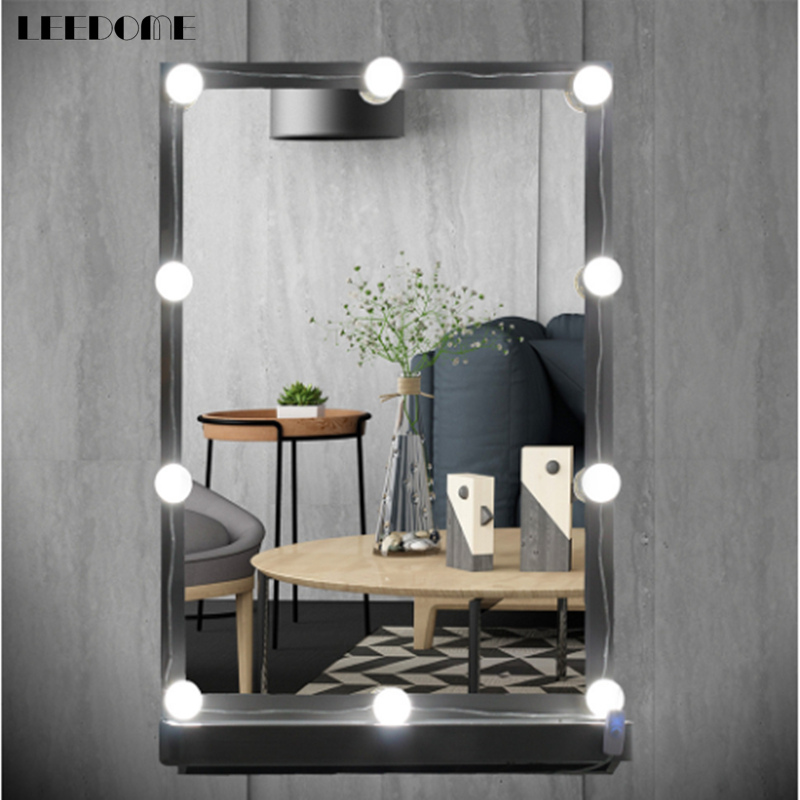 Dropship Hollywood Style Makeup mirror light 3.1m 10 LED Bulbs AC 110V 220V Touch Control Adjustable Brightness Makeup Lamp