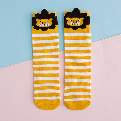 10Pairs <font><b>Unisex</b></font> Lovely Cute Cartoon Lion Kids Baby <font><b>Socks</b></font> Knee Girl Boy Baby Toddler <font><b>Socks</b></font> <font><b>Animal</b></font> Infant Soft Cotton <font><b>Socks</b></font> 0-3Y image