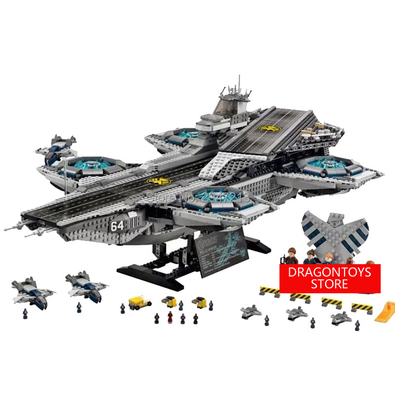 hot compatible LegoINGlys Marvel Super Hero Avenger Aegis Bureau Aircraft carrier Warship with figures brick toys for children hot compatible legoinglys batman marvel super hero movie series building blocks robin war chariot with figures brick toys gift