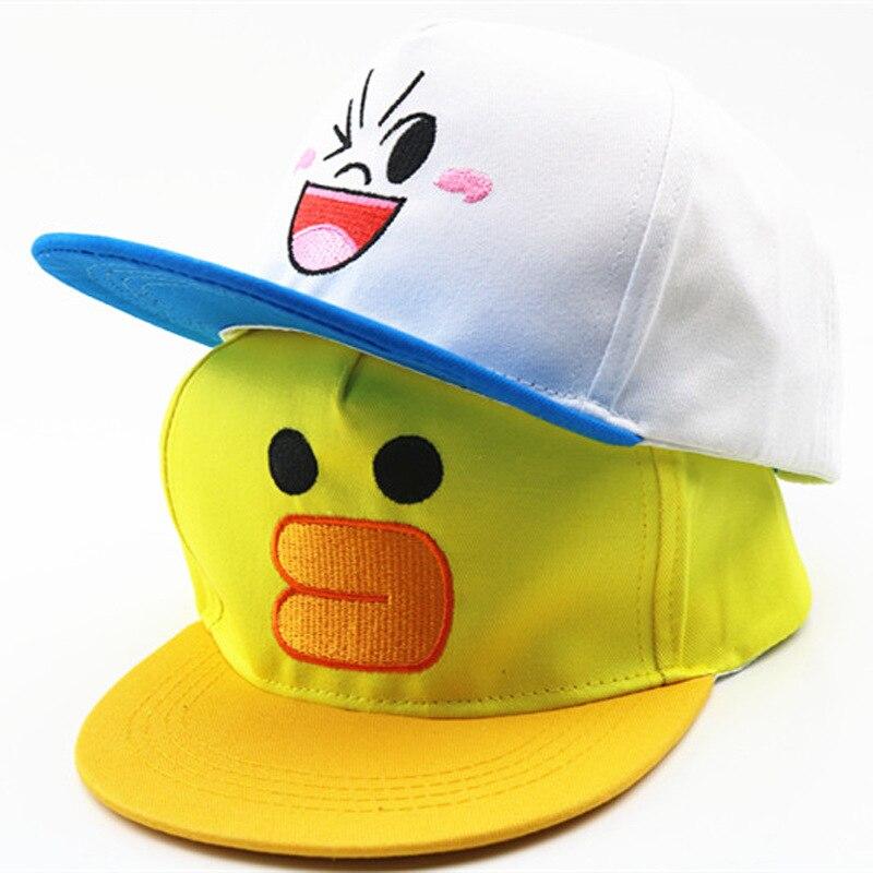 new cartoon children Korean baby hats baseball cap cute bear boys and girls students hip hop cap beanies kids photography props