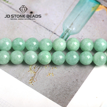High Grade Myanmar Jade Beads Semi-Finished Handmade Bracelet Natural Green jade Stone loose beads Accessory For Jewelry Making