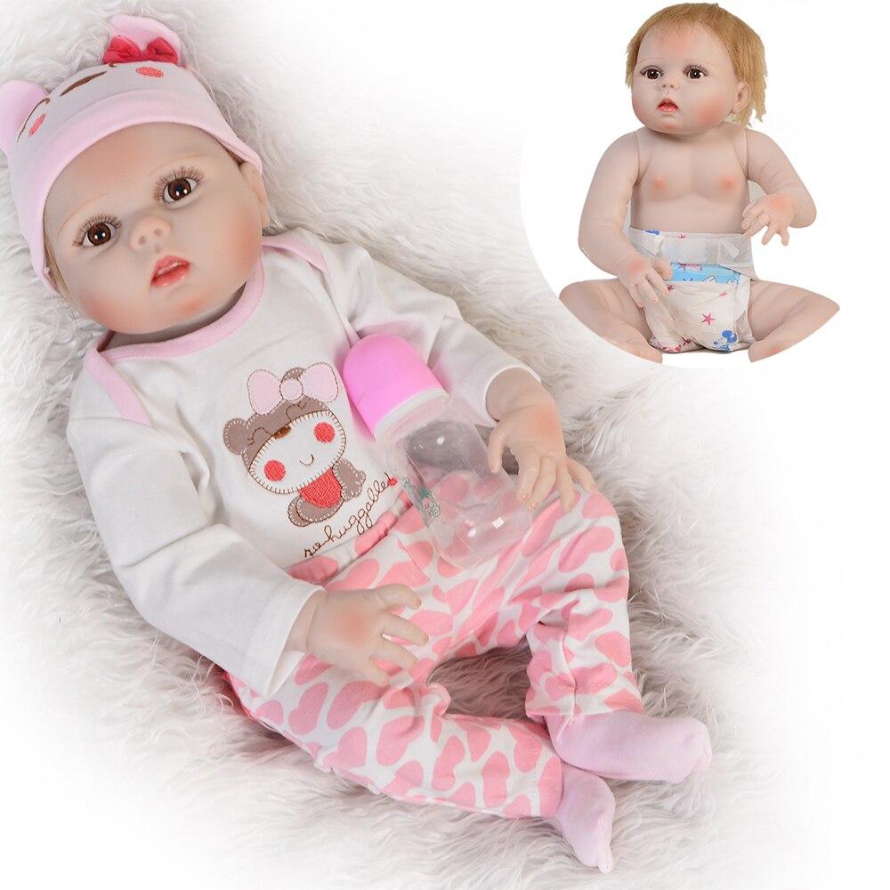Bebe poupée Reborn 55 CM vraie Silicone Reborn bébé poupées vinyle jouets grandes poupées pour filles 3-7 ans bébé poupée reborn cadeau