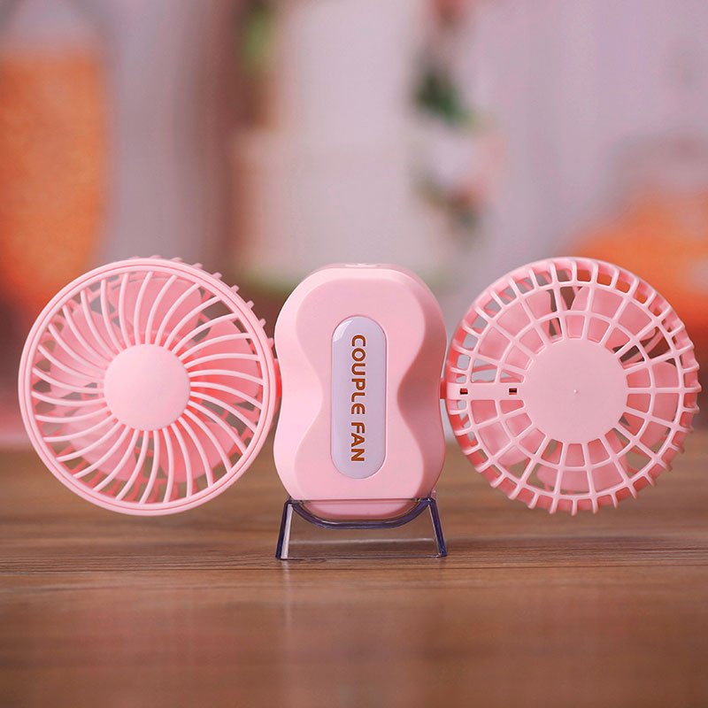 Fashion Rechargeable USB Fans Air Conditioner Conditioning with 2 Motors Home Table Air Cooler Mini Outdoor Fan with Battery 3 files mini usb hand fan cooling for home outdoor portable fan air conditioner cooler fans with 1200ma rechargeable battery