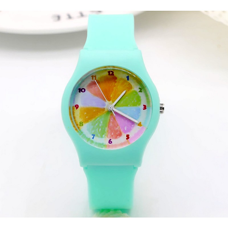 2019 New Summer Women Girls Students Sports Lemon Resin Quartz Bracelet Watches Fresh Personality Electronic Waterproof Clock