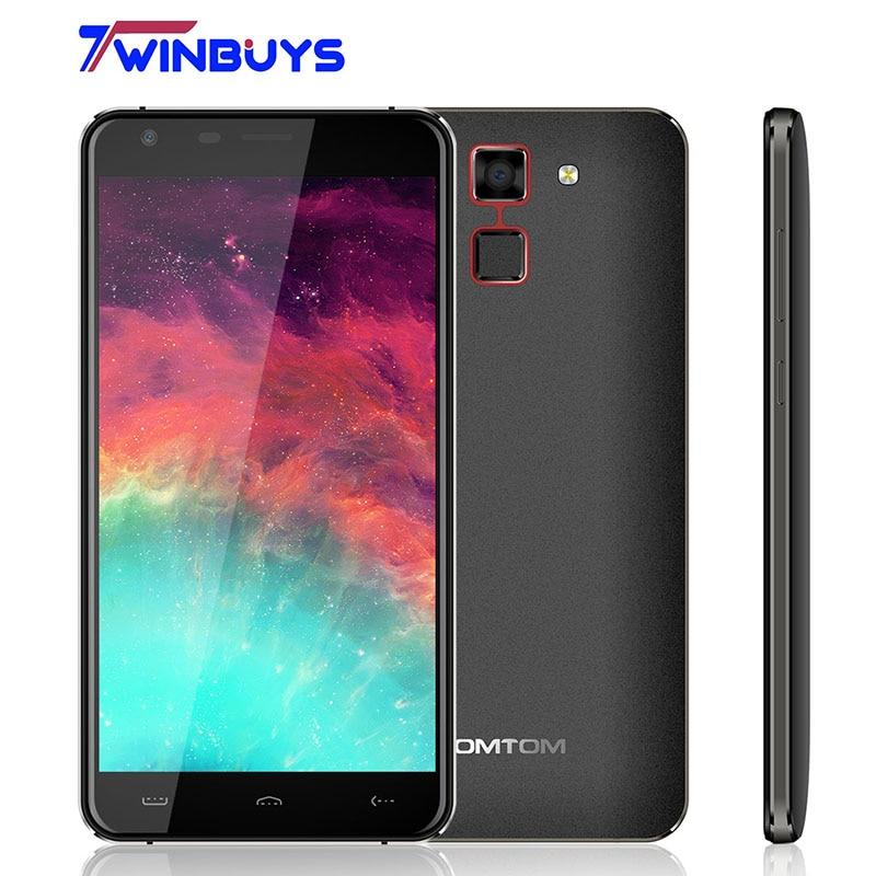 HOMTOM HT30 Smartphone 3G WCDMA Fingerprint 5.5inch HD MTK6580 Quad Core Android 6.0 1280*720 1GB+8GB 8MP 3000mAh mobile phone