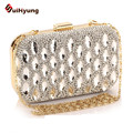 2016 New Luxury Women's Handbags Party Diamond Bag Fashion Bling Crystal Wedding Clutch Bag Ladies Shoulder Bags Small Clutch