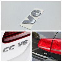 Для VW GOLF GTI R32 TOUAREG PASSAT TDI Polo Задняя Крышка багажника наклейка хром V6 эмблема значок наклейка