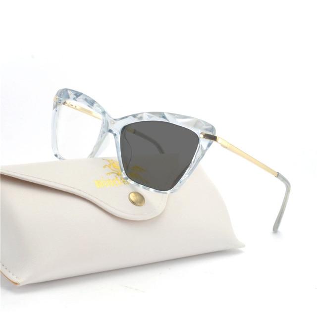 112b4367af7dc9 Mode Zon Fotochrome Vrouwen Kat Brilmontuur Optische Bril Frame Student  Bijziendheid Bril Merk Nieuwe Aanbieding Zonnebril