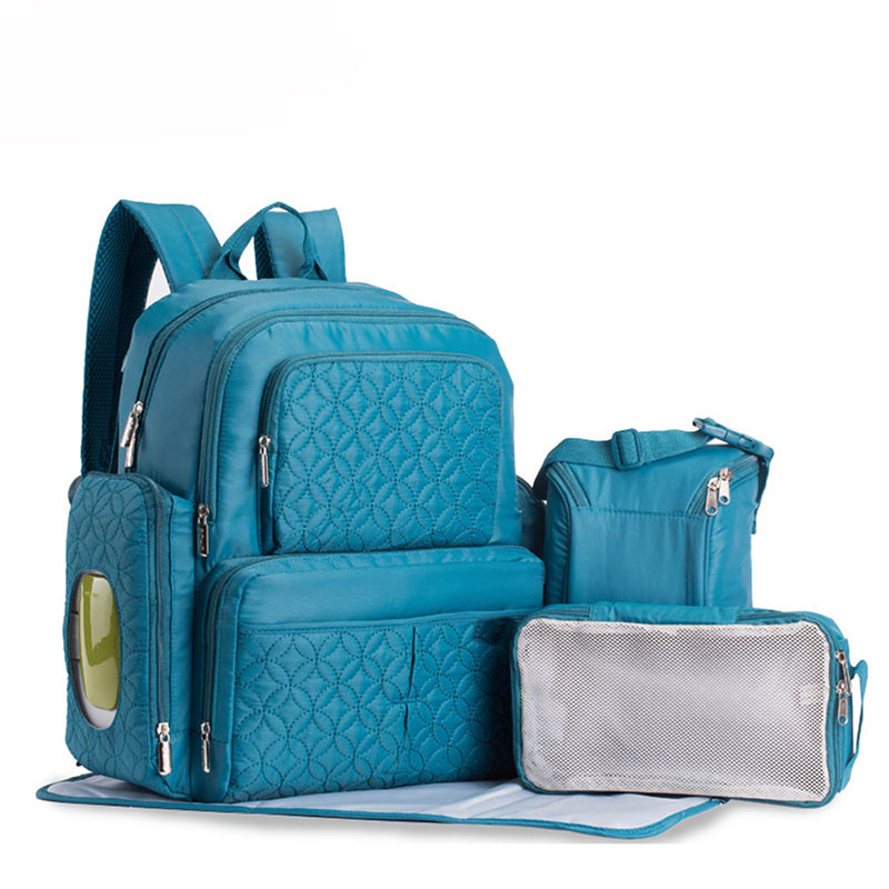 Waterproof Mom Backpack Multifunction Nylon Diaper Bag Breathable 3 Color Baby Care Bags Large Capacity Mummy Nappy Backpack multifunction mom backpack strollers bag baby care diaper nappy bags large capacity waterproof mummy bag maternal shoulder bag