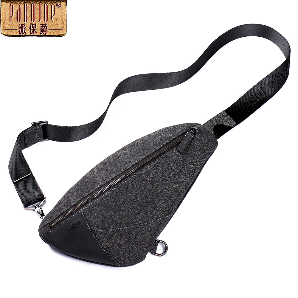 Pabojoe Crossbody Bags for Men Genuine Leather Messenger Chest Bag Fashion Style pabojoe duffle bags 100