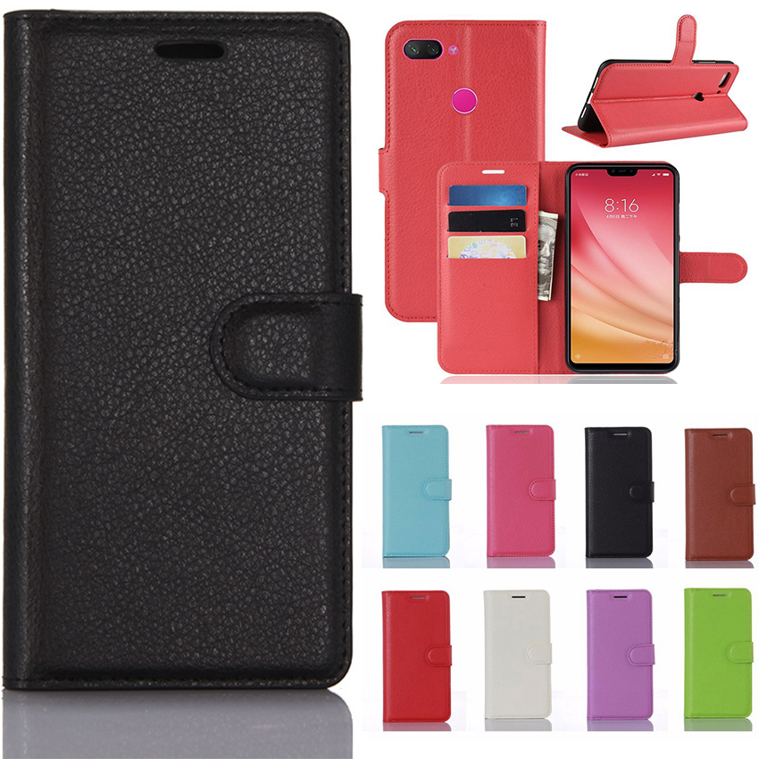 For Xiaomi Mi 8 <font><b>SE</b></font> <font><b>Case</b></font> Luxury Flip Leather Wallet Book Stand Cover <font><b>Case</b></font> for Xiaomi Mi 8 Lite <font><b>Mi8</b></font> Phone <font><b>Case</b></font> with Card Slots image