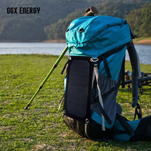 GGX ENERGY 7Watt Portable Solar Panel Charger for Camping SUNPOWER Solar Cell+ 4 Suckers for Absorbing+ 4 Buckles for Hanging