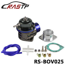 RASTP-Universal BOV Blow Off Valve  Turbo FV With Flange Blow Dump Blow Off Adapter RS-BOV025 wlring store 50mm blow off valve bov with v band flange spring wlr5766