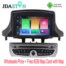 JDASTON 1 DIN Octa Core 2GB Ram Android Car DVD Player For RENAULT Megane II/Fluence 2009-2013 Multimedia GPS Navigation Radio