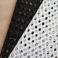 New Designer Art Honeycomb Mesh Fabric Polyester White High Quality Sport Clothes Knitted Fabric Multifunction Hand