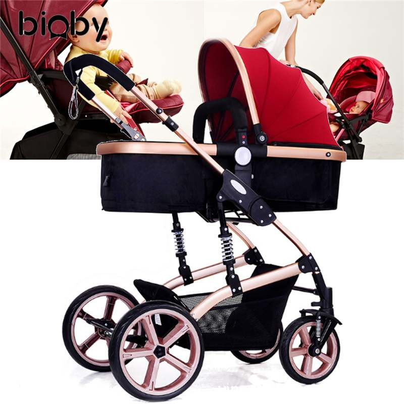Multifunctional 3 in 1 Baby Stroller High Landscape Stroller Folding Carriage Gold Baby Stroller Newborn StrollerMultifunctional 3 in 1 Baby Stroller High Landscape Stroller Folding Carriage Gold Baby Stroller Newborn Stroller
