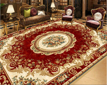 Vintage Red European Style Carpet Patterns Floor Paintings 3D Waterproof Self Adhesive Wallpaper