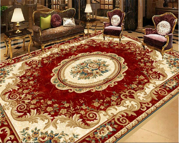 beibehang Red European carpet pattern floor waterproof self-adhesive 3d flooring painting wallpaper papel de parede wall paper цена 2017