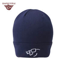 Fashion Winter Embroidery Knit Hats Custom Glasses Cap For Men Casual Sport Hip Hop Hat Outdoor Travel Skullies Beanies CX016