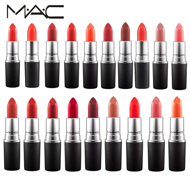 Mac makeup 19 Different Colors Sexy Matte Lipstick Long-lasting Easy to Wear Pencil Lip Stick Cosmetic With Box ...