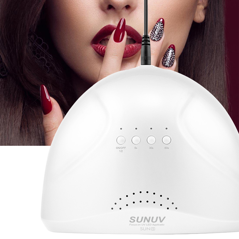 48W/24W Double Light UVLED SUN UV Light LED Lamp Nail Dryer LED Nail Lamp Drier For Curing Nail Gel Polish