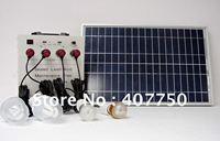 Уникальный экологически чистые Солнечная энергия 30 Вт LED Освещение системы портативный используется для самостоятельного вождения Тур Осв